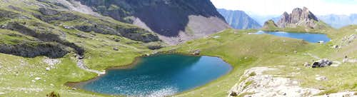 Consaterre lakes panorama