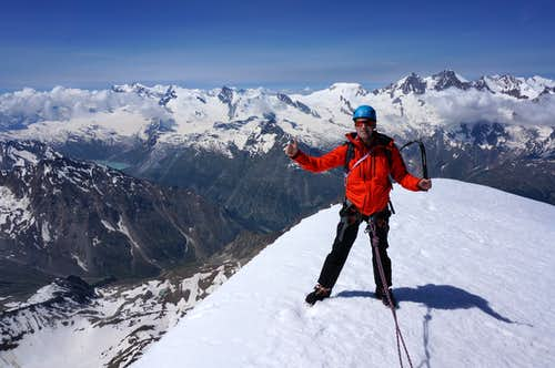 Me @ the summit of Weissmies (4023m)
