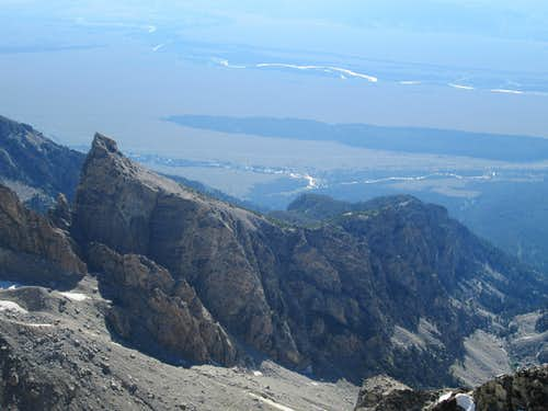 Disappointment Peak seen from the summit of the Middle Teton