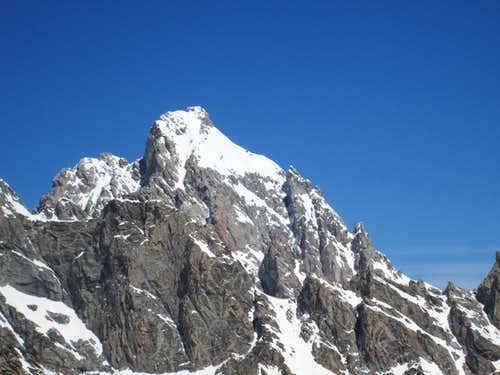 The Grand Teton seen from high on Buck Mountain, May 2013