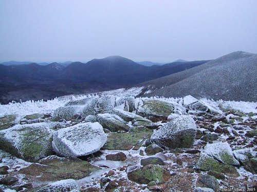 Mt Carrigain (center) and Mt...
