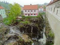 Český Krumlov, UNESCO world heritage city nestled in the mountains