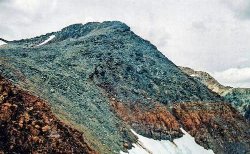 Slate Ridge Peak 12,126' from the east