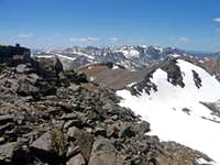 Slate Peak (below right) from Excelsior Mtn.