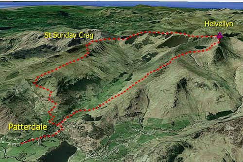 Patterdale Round - Google Earth view
