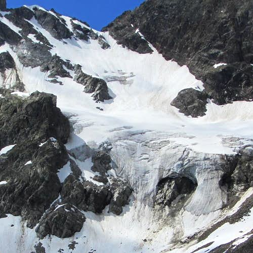 The Litzner glacier on the north side of the saddle between Großlitzner and Gross Seehorn (3121m)