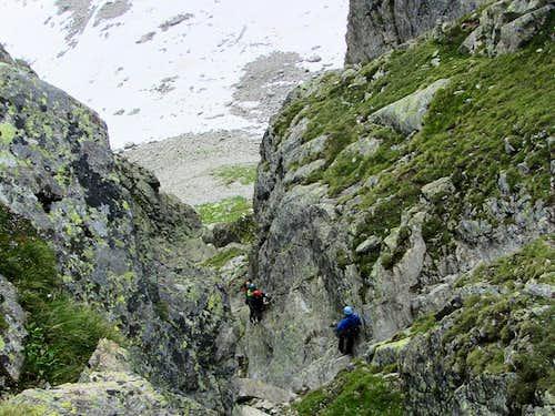 Climbers on the Kleinlitzner Via Ferrata