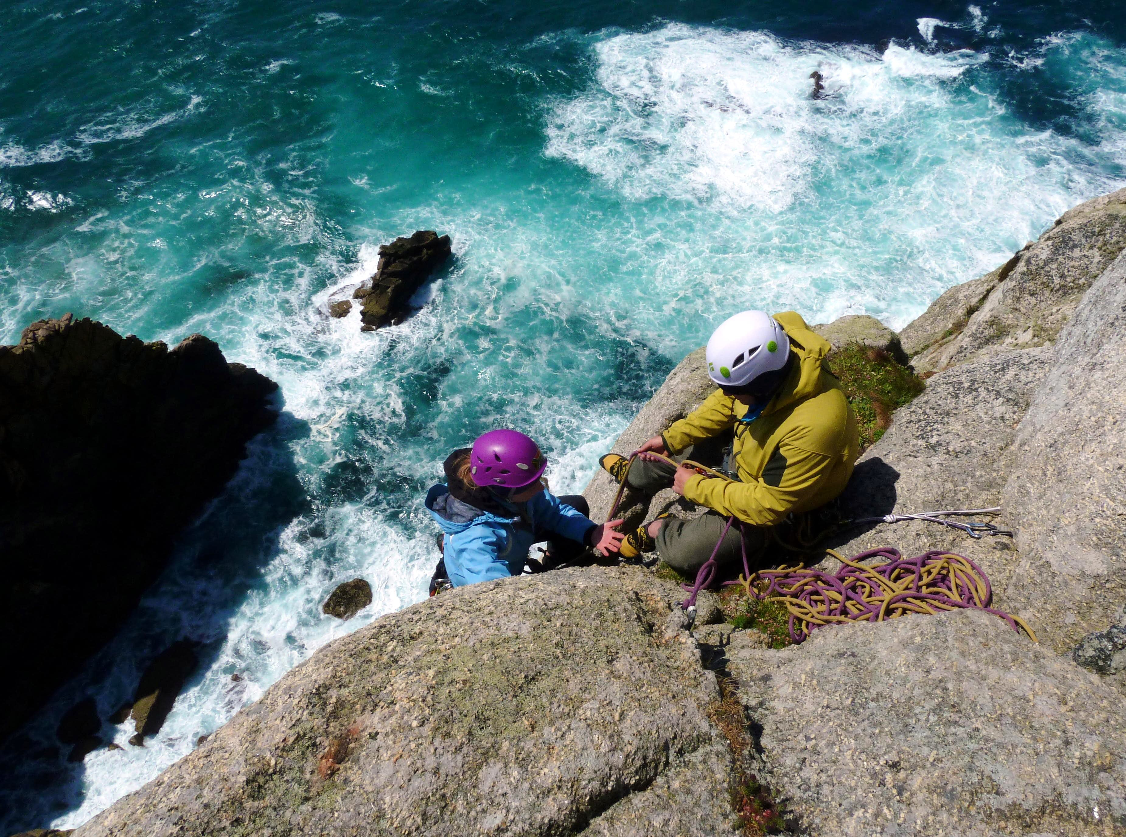 Climbs and tides in Cornwall