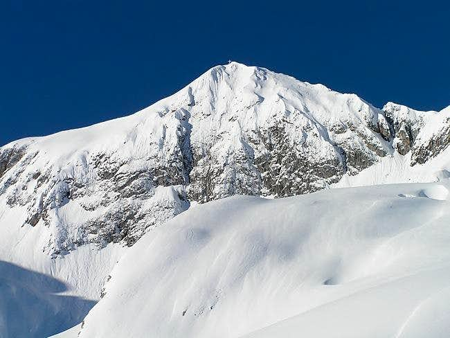 The western summit of...
