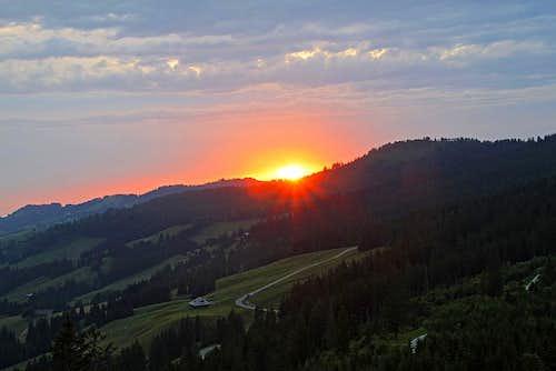 Sunset on Wasserscheidi