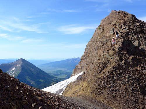 Gothic Mtn seen from Baldy's summit ridge