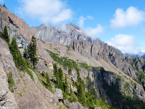 Mount Constance from April Peak saddle
