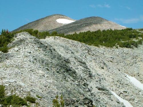 Typical ridge terrain on the...