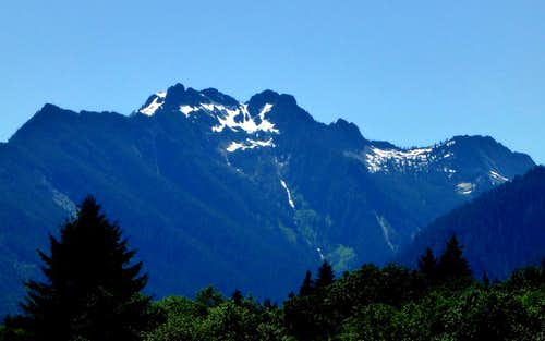 Jumbo Mountain as seen from SR530
