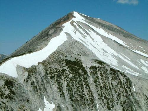 View of the summit pyramid...