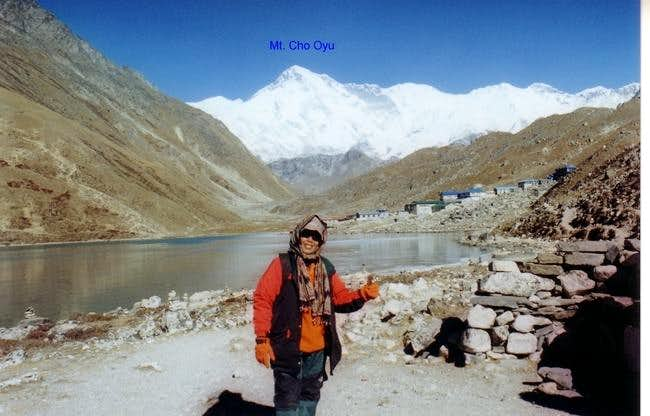 In Gokyo with the background...