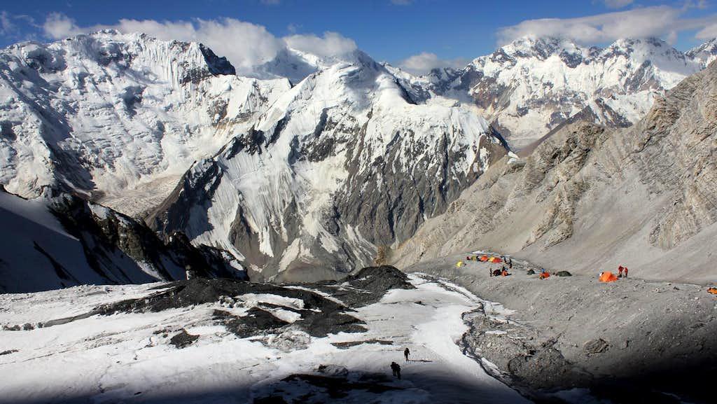 Pik Korzhenevskaya - Upper camp I (5300m)