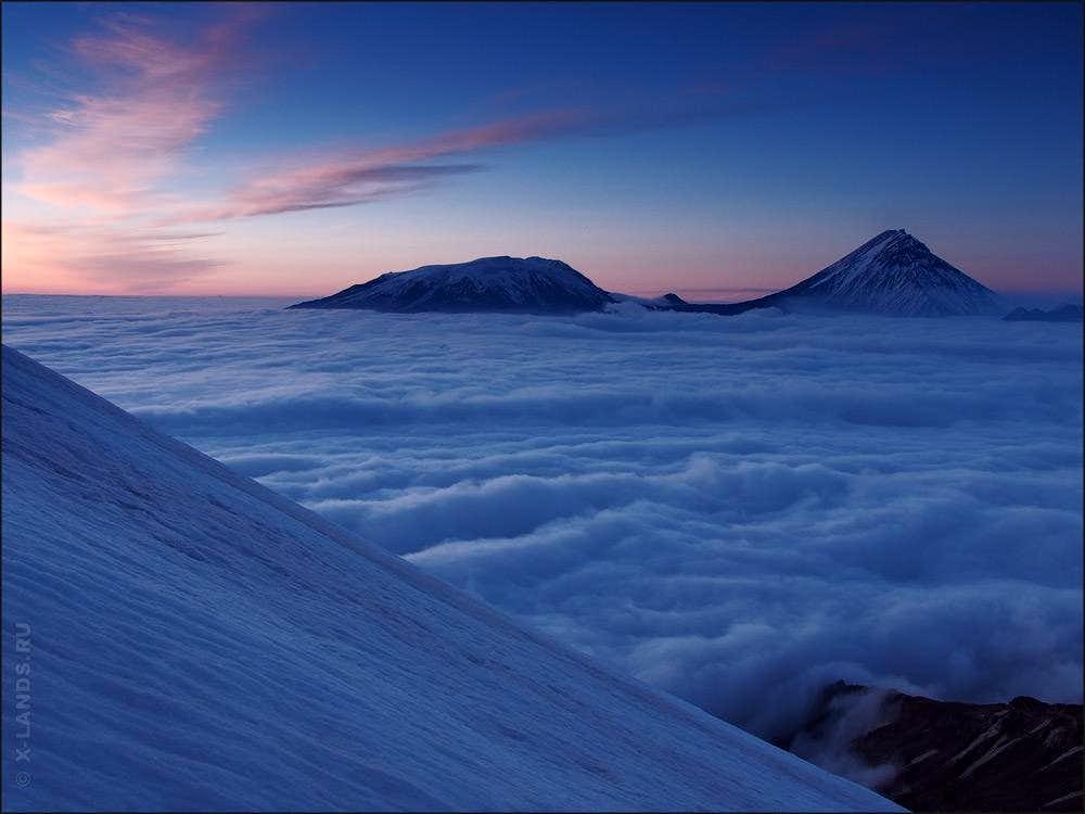 Volcanoes of Klyuchevskaya range