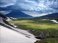 Jazzy valley near Tolbachik