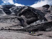 Icefall on Krestovsky volcano