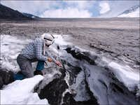 Getting water from a glacial stream
