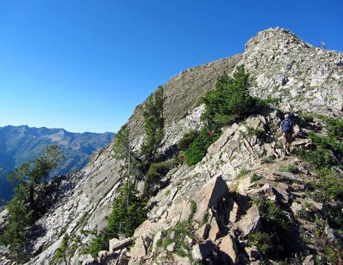 Raymond summit over Big Cottonwood Canyon