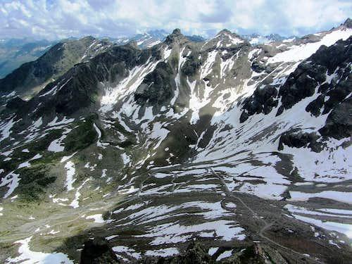 The Lobspitzen from the summit of Kleinlitzner