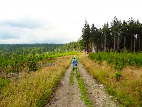 Starting the walk at Przełęcz Jugowska