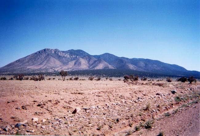 A view of Carrizo Peak.