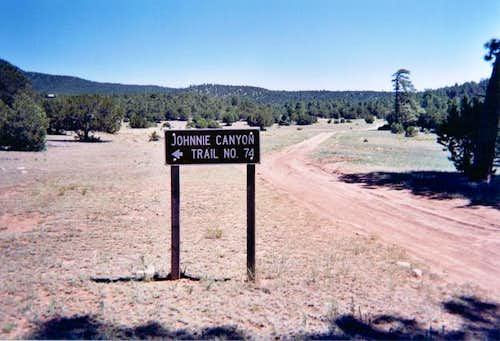 The trailhead.