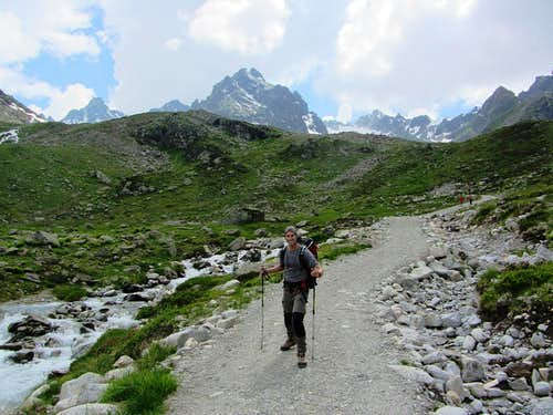 Taking down the easiest route in the Kromertal