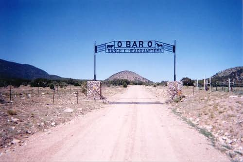 The O-BAR-O ranch sign on...