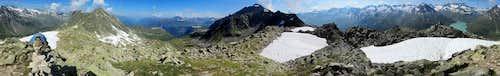 Annotated Bielerspitze 360° summit panorama