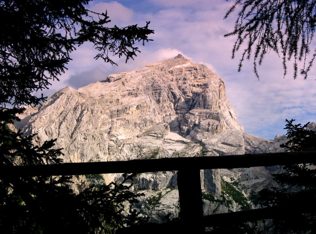 The mighty Antelao seen from the path to Rifugio  San Marco