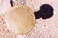 U.S. Geological Benchmark atop Mauna Kea