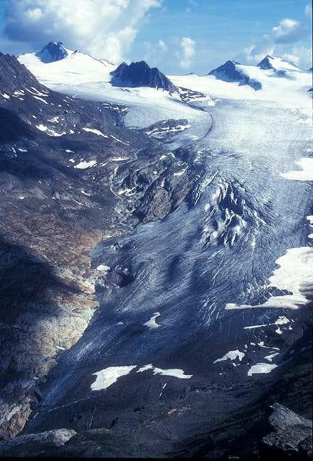 Gurgler Ferner glacier and...