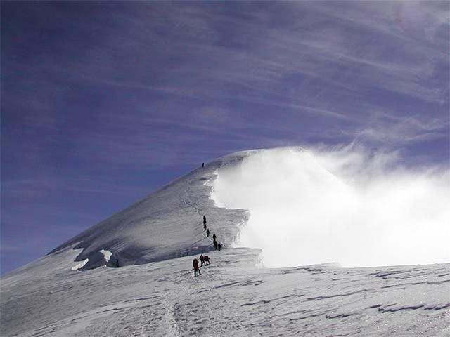 Near the summit of Weissmies...
