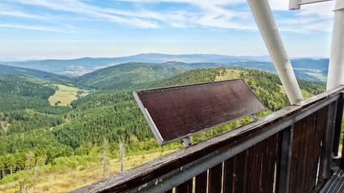 Blank panorama on top of Ruprechtický Špičák