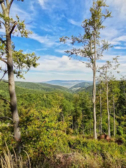 Views towards Góry Sowie