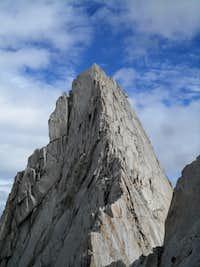 Crux downclimb