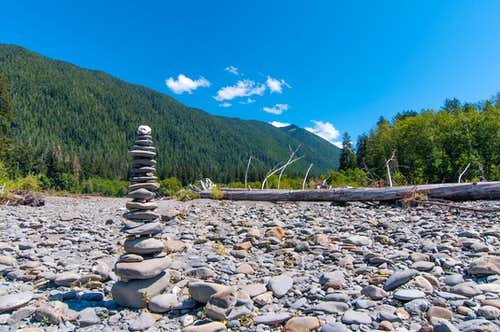 Carefully constructed cairn
