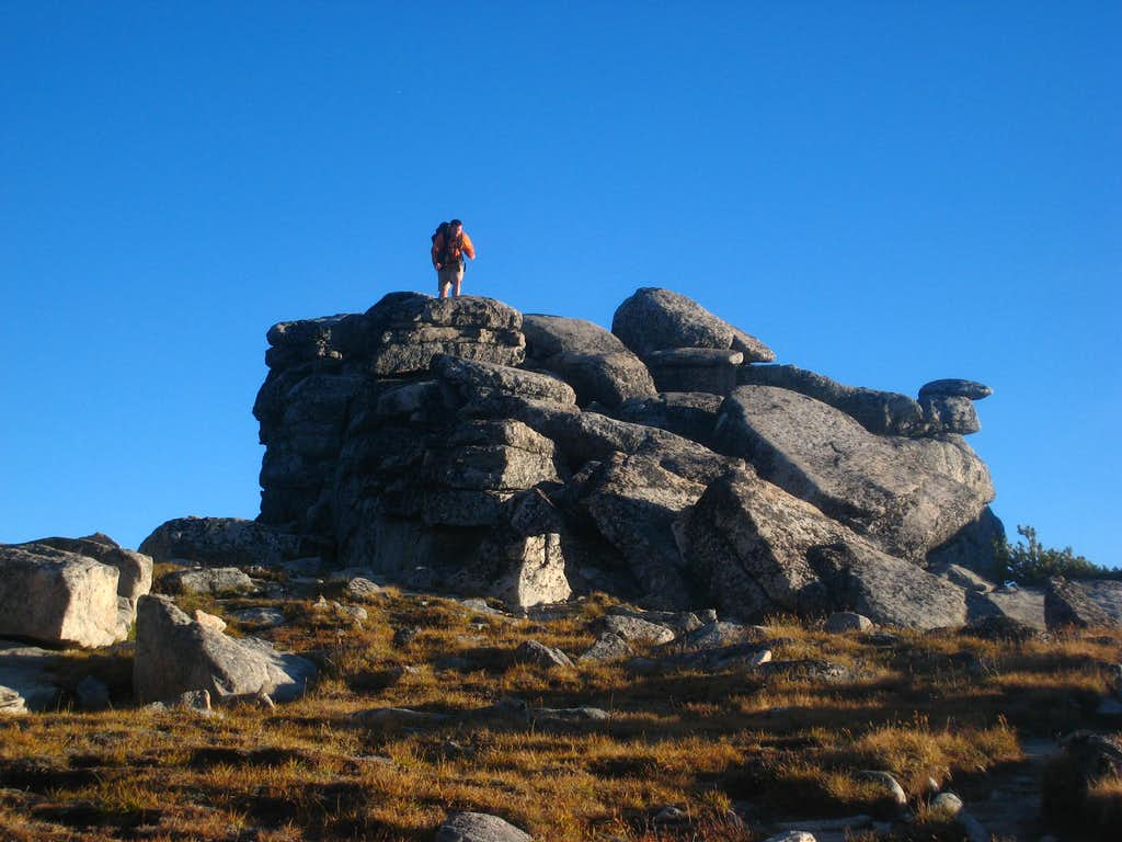 Josh on the summit