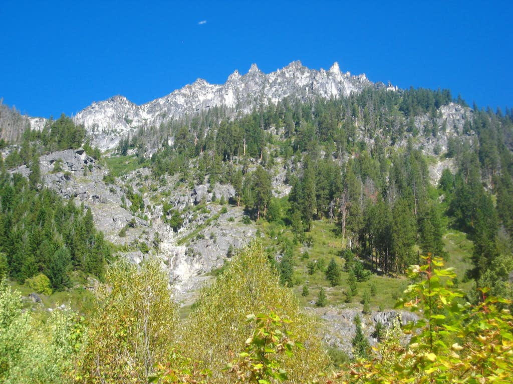 Looking up McClellan Peak from Ingalls Creek