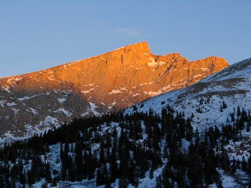 The Sawtooth at sunset....