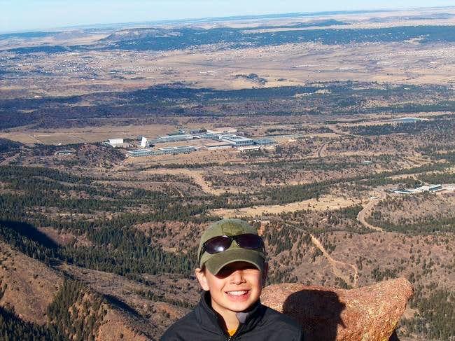 JP on top of Blodgett Peak...