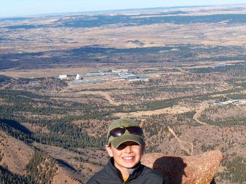 JP on top of Blodgett Peak...