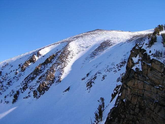 View of Freel Peak summit...