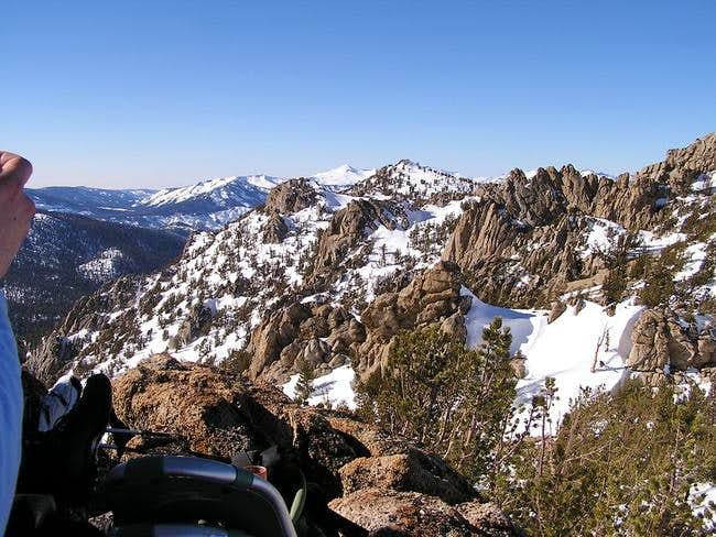 View of ridge traverse from...