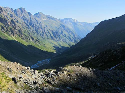 Looking down the Jamtal valley