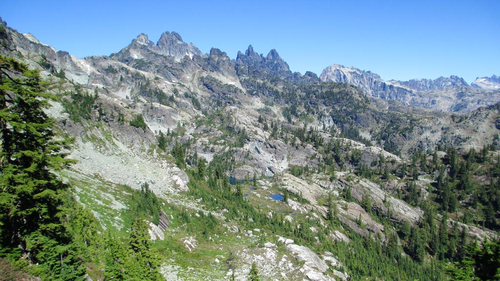The View to Chikamin Peak From the Saddle